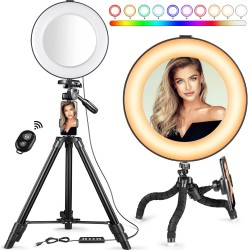 "MACTREM 8"" RGB Ring Light"